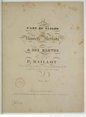 LArt_du_violon_nouvelle_méthode_Baillot_Pierre