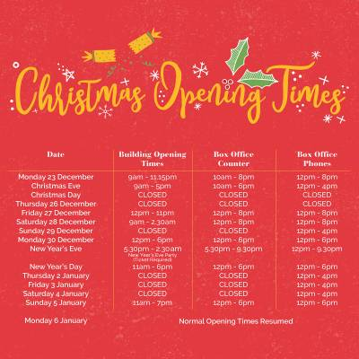 Christmas Opening Times 2019/20